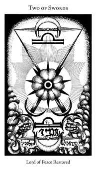 Two of Swords Tarot Card - Hermetic Tarot Deck