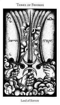 Three of Spades Tarot Card - Hermetic Tarot Deck