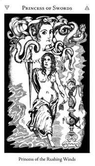 Page of Spades Tarot Card - Hermetic Tarot Deck