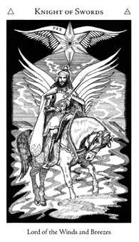 Knight of Spades Tarot Card - Hermetic Tarot Deck