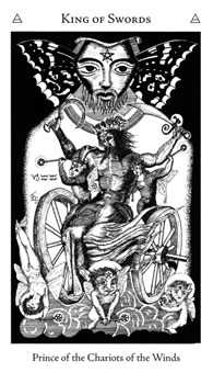 King of Spades Tarot Card - Hermetic Tarot Deck