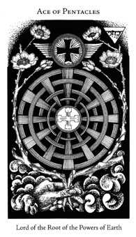 Ace of Pentacles Tarot Card - Hermetic Tarot Deck