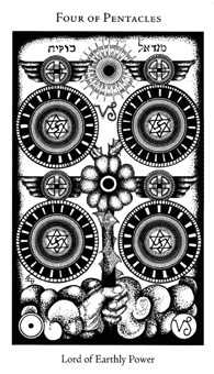 Four of Discs Tarot Card - Hermetic Tarot Deck