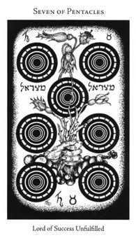 Seven of Coins Tarot Card - Hermetic Tarot Deck