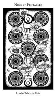 Nine of Pentacles Tarot Card - Hermetic Tarot Deck