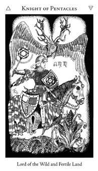 Cavalier of Coins Tarot Card - Hermetic Tarot Deck