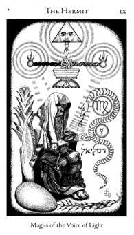 The Anchoret Tarot Card - Hermetic Tarot Deck