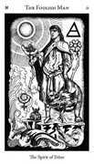 The Foolish Man Tarot card in Hermetic Tarot deck