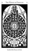 Wheel of Fortune Tarot card in Hermetic Tarot deck