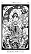 Temperance Tarot card in Hermetic Tarot deck