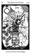 The Blasted Tower Tarot card in Hermetic Tarot deck
