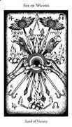 Six of Wands Tarot card in Hermetic Tarot deck