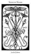 Seven of Wands Tarot card in Hermetic Tarot deck