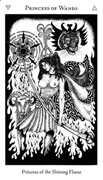 Princess of Wands Tarot card in Hermetic Tarot deck