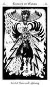 Knight of Wands Tarot card in Hermetic Tarot deck