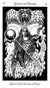 Queen of Wands Tarot card in Hermetic Tarot deck