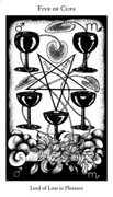 Five of Cups Tarot card in Hermetic Tarot deck