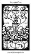Seven of Cups Tarot card in Hermetic Tarot deck
