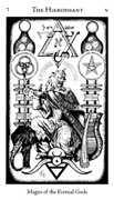 The Hierophant Tarot card in Hermetic Tarot deck