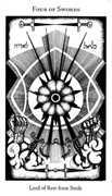 Four of Swords Tarot card in Hermetic Tarot deck