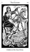 The Lovers Tarot card in Hermetic Tarot deck