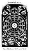 Ace of Pentacles Tarot card in Hermetic Tarot deck