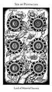 Six of Pentacles Tarot card in Hermetic Tarot deck