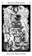Queen of Pentacles Tarot card in Hermetic Tarot deck