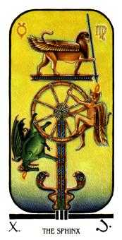 Wheel of Fortune Tarot Card - Ibis Tarot Deck