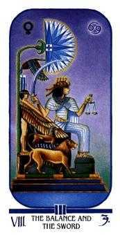 Justice Tarot Card - Ibis Tarot Deck