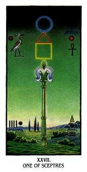 Ace of Rods Tarot Card - Ibis Tarot Deck