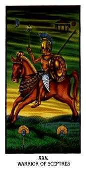 Knight of Clubs Tarot Card - Ibis Tarot Deck