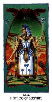 Queen of Batons Tarot Card - Ibis Tarot Deck