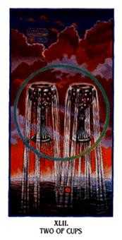 Two of Hearts Tarot Card - Ibis Tarot Deck
