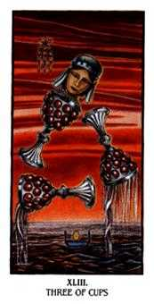 Three of Cups Tarot Card - Ibis Tarot Deck