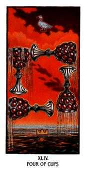 Four of Cups Tarot Card - Ibis Tarot Deck