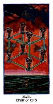Eight of Cups Tarot Card - Ibis Tarot Deck