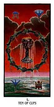 Ten of Cups Tarot Card - Ibis Tarot Deck