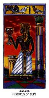 Queen of Bowls Tarot Card - Ibis Tarot Deck