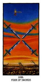 Four of Swords Tarot Card - Ibis Tarot Deck