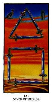 Seven of Swords Tarot Card - Ibis Tarot Deck