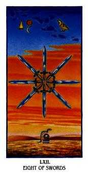Eight of Spades Tarot Card - Ibis Tarot Deck