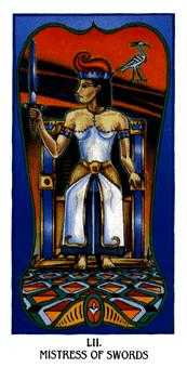 Queen of Arrows Tarot Card - Ibis Tarot Deck