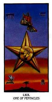 Ace of Discs Tarot Card - Ibis Tarot Deck