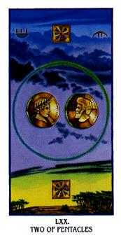 Two of Coins Tarot Card - Ibis Tarot Deck