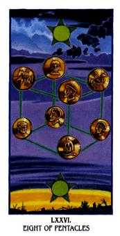 Eight of Discs Tarot Card - Ibis Tarot Deck