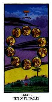 Ten of Coins Tarot Card - Ibis Tarot Deck