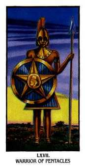 Knight of Diamonds Tarot Card - Ibis Tarot Deck