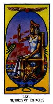 Queen of Coins Tarot Card - Ibis Tarot Deck