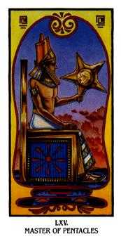 King of Rings Tarot Card - Ibis Tarot Deck